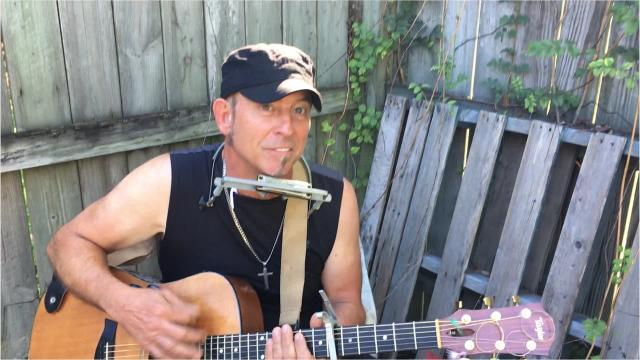 Vaughn Goudeau sings one of his own songs