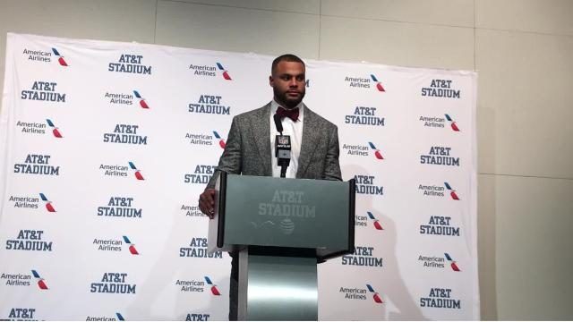 The bond between Dallas Cowboys quarterback Dak Prescott and his high school coach, Rodney Guin, remains strong. Guin was in attendance Sunday, and Prescott was inspired.