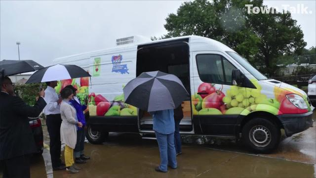 Healthy Blue donated a Mercedes-Benz Sprinter van to the Food Bank of Central Louisiana's Good Food Project Tuesday, Oct. 16, 2018. The van will be used to help with garden programs, nutrition education and community garden support.