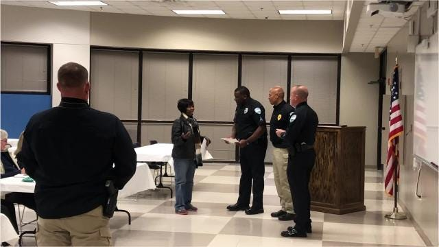 Fifteen residents graduated Wednesday (Nov. 14, 2018) from the Alexandria Police Department's Citizens Academy. Over the course of seven weeks, the residents got to hear from officers in different divisions what they do and why. It's hoped that another academy will take place in March.