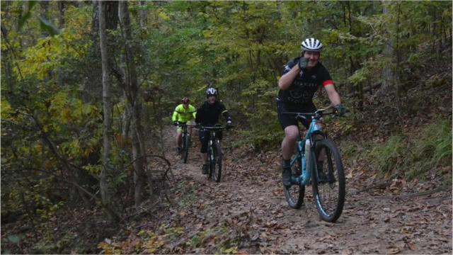About 20 cyclists rode the Lakeshore Trail in Kisatchie National Forest for the annual Black Friday Trail Ride hosted by Red River Cyclery. Runners were also invited to join in the Black Friday Tradition started by Red River Cyclery a few years ago.
