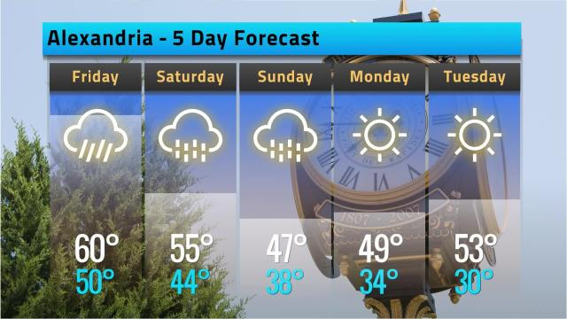 Here is your Alexandria weather forecast for Thursday, Dec. 6.