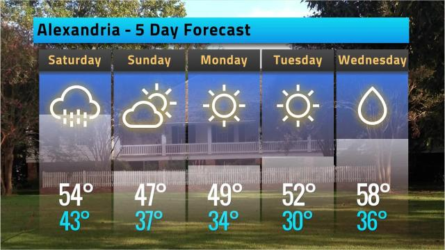 Here is your Alexandria weather forecast for Friday, Dec. 7