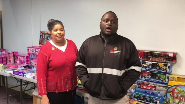 Marvin Richard donates toys to needy children in Opelousas