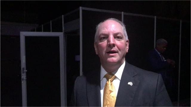 Gov. John Bel Edwards made a 'friendly wager' with Pennsylvania Gov. Tom Wolf on the Saints-Eagles playoff game.