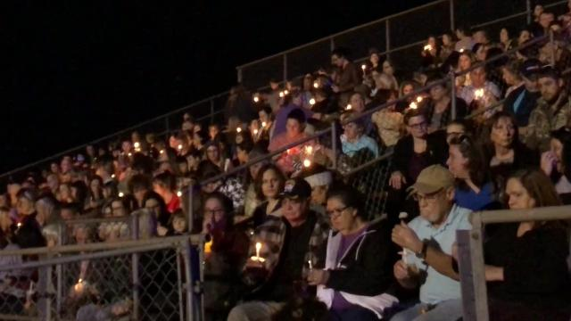 Family, friends and residents of Avoyelles Parish gathered Monday (Jan. 8, 2019) at the Marksville High School football field for a candlelight vigil to remember five children killed last week (Thursday, Jan. 3, 2019) in a crash on Interstate 75 near Gainesville, Florida.