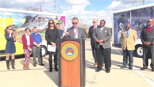 Arts Council president Barry Stevens discusses public art on city buses.