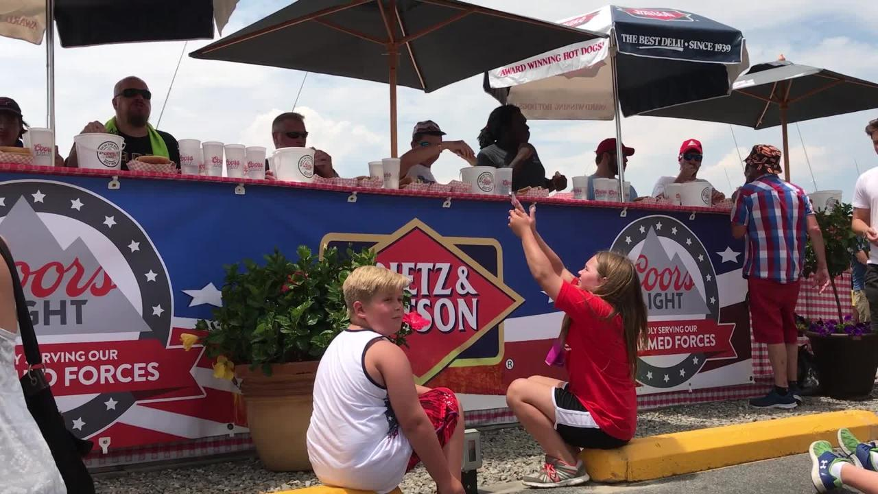 WATCH: 10th Annual Hot Dog Eating Contest at Fish Tales in Ocean City