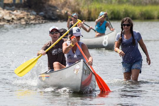 WATCH: Scenes from the 38th Annual Canoe Races