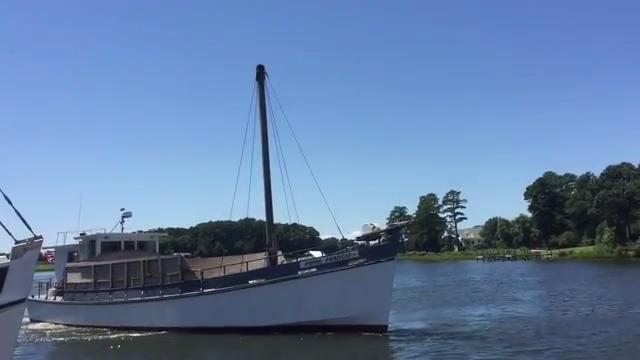 WATCH: Fleet of Chesapeake Bay buyboats visits Onancock, Virginia