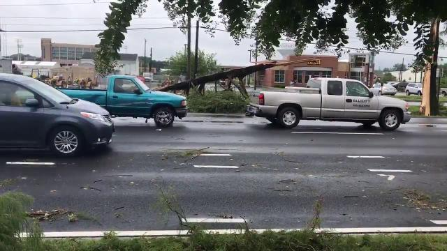 WATCH: Possible tornado damage in Salisbury