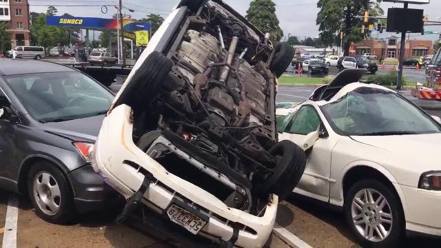WATCH: Possible tornado damages cars in Salisbury