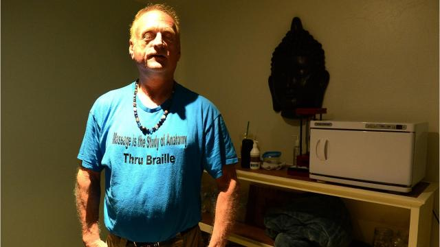 WATCH:  Blind massage therapist uses sixth sense to help clients