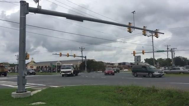 WATCH: Intersection of Route 13 and Route 179 in Onley, Virginia