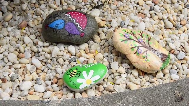 WATCH: SBYrocks shows kindness with downtown rock garden