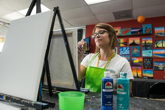 WATCH: Local art studio offers visitors a chance to relax and paint