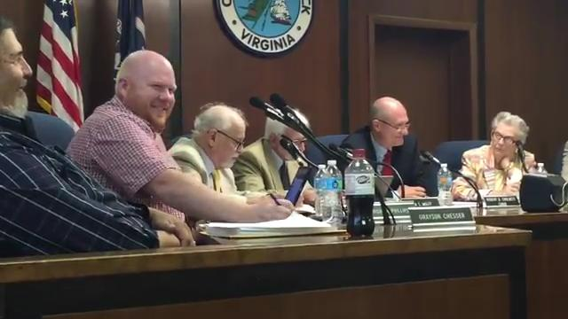 Paul Muhly, Accomack County supervisor spoke Wednesday, Aug. 16, in support of Tangier.
