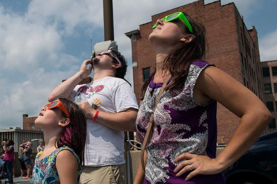 WATCH: Scenes from Salisbury's Solar Eclipse Watch Party