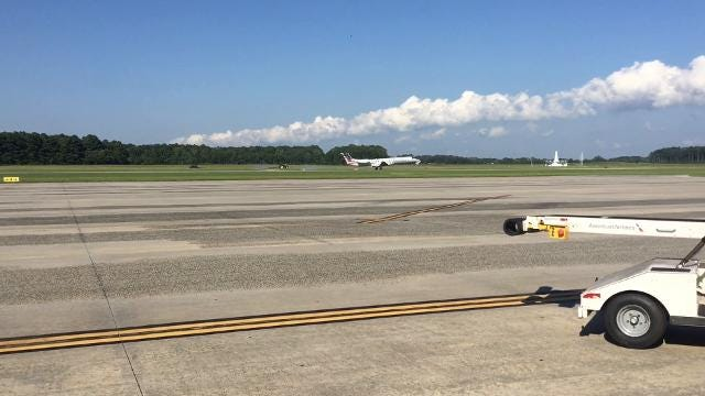 WATCH: First jet lands at Salisbury airport
