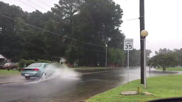 WATCH: Flooding on Virginia's Eastern Shore