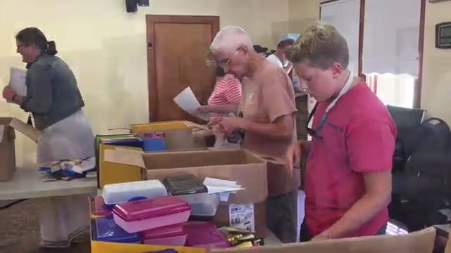 WATCH: Volunteers pack school supplies for Eastern Shore students