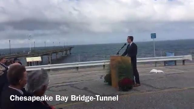 A groundbreaking ceremony for the parallel tunnel project was held on the Chesapeake Bay Bridge-Tunnel on Monday, Sept. 18, 2017.