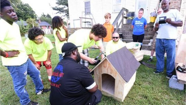 Pastor Daniel Appleby established the Young Lions program this summer, which teaches boys how to work with tools and get involved in community service, giving them skills and strategies to be responsible for their own success.