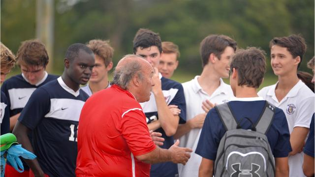 Worcester Prep soccer coach Terry Underkoffler received his 500th career win on Oct. 9 against Holly Grove.