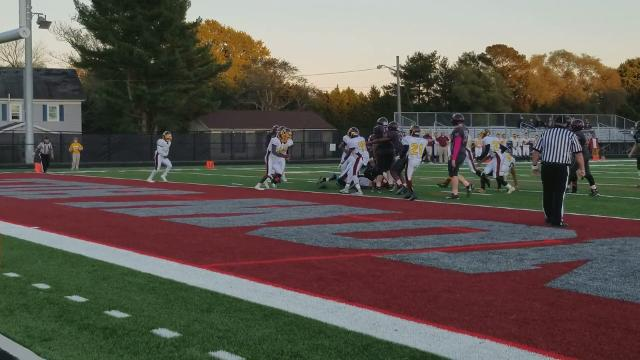 On Thursday, the Snow Hill Eagles were able to get a load off their backs they'd been carrying since their last win in 2014, with a 35-29 win over Washington.