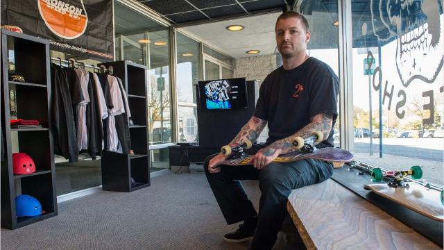 Owned by Bryan Whipple, the shop offers skateboards, apparel and accessories to local skaters.