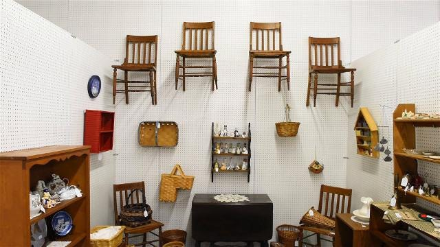 The Rusty Rooster provides the community an opportunity to shop and sell their own products.