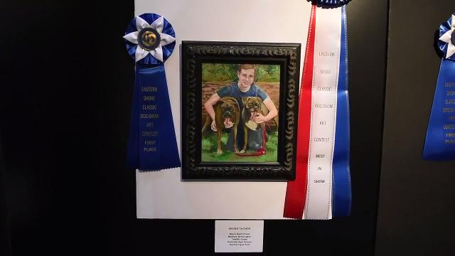 A local art contest gave students an opportunity to express love for their pets through painting and drawing.