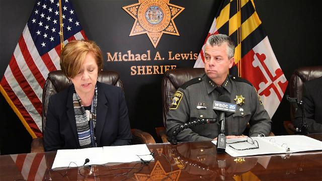 County officials talk about charges filed against special education teacher Monica Snee.