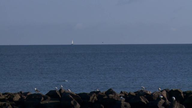 Watch: Man drifts across Chesapeake on a raft