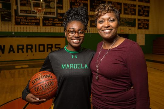 Kesha and Kayla Cook talk about their bond on and off the court.