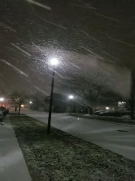 WATCH: Raw video, snow has arrived in Salisbury