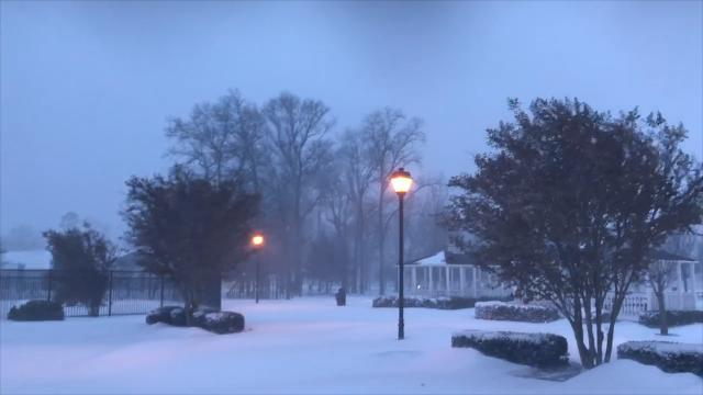 WATCH: Raw snow footage from around Salisbury on Jan. 4, 2018