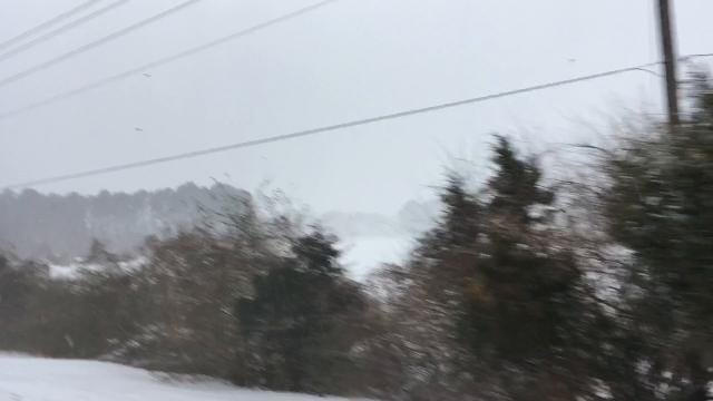 WATCH: A drive through snowy Princess Anne