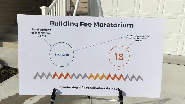 Fee moratorium, one-stop shop for permits helped, mayor says