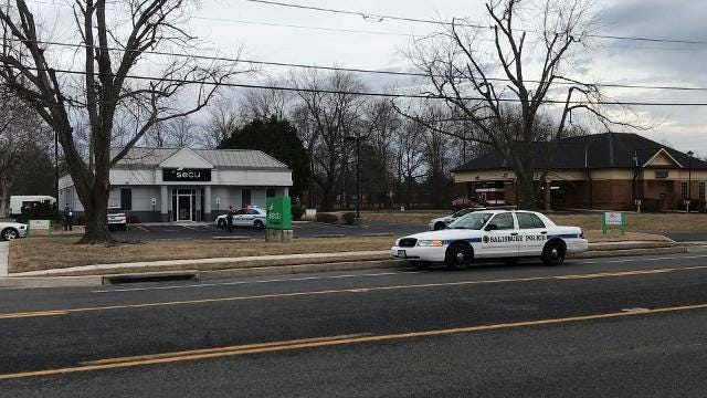 Salisbury police are investigating an armed robbery of an armored truck driver on Monday morning.