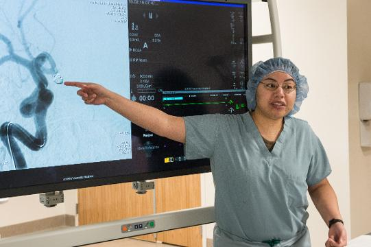 PRMC's newly constructed state of the art hybrid operating room will allow for minimally invasive brain surgery.