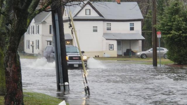 Salisbury residents encountered some street flooding along West Main Street during the morning commute Wednesday.