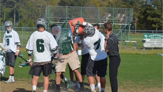 Parkside boys lacrosse coach Jeremy Michalski won his 200th victory with the Rams on Wednesday.
