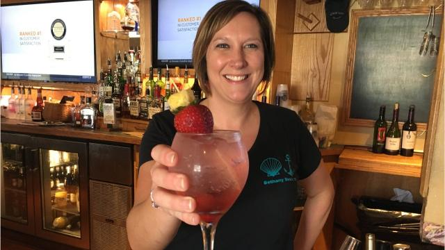 Melanie Petrie is a familiar face behind the bar at both the Cottage Cafe and the Boathouse.