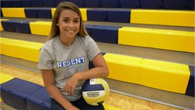 Holly Grove senior volleyball player Makenzie Lambertson overcame a major injury her junior year to sign with Division I Regent University.