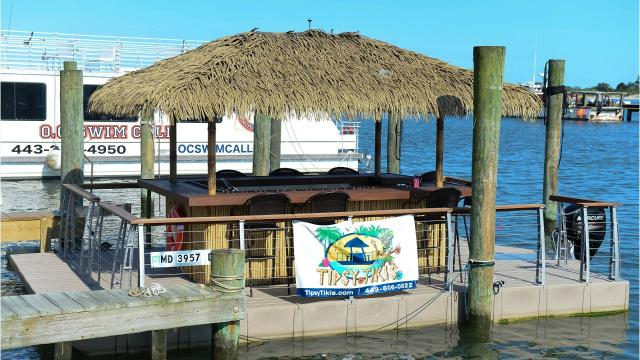 Tipsy Tikis is on the water now in Ocean City.