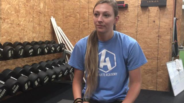 Former Mardela and Washington College softball player Taylor Harcum has returned to the Shore to give back to young athletes.