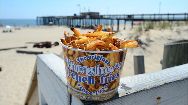 While the boards give a great view of the sand and surf, it's also theplace to fill up on sinful treats.