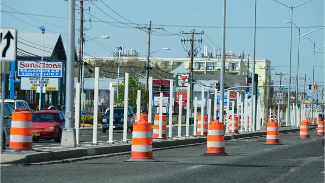 Ocean City's new median fence has been up in the resort for about a month now.