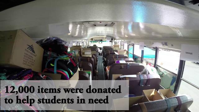 United Way stuffs the bus